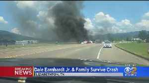 News video: Dale Earnhardt, Family Survive Fiery Plane Crash In Tennessee