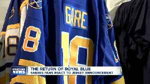 Sabres fans react to the return of royal blue jerseys [Video]