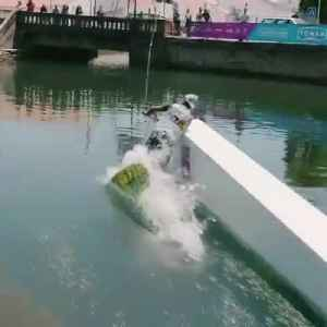 Man Tries Wakeboarding Off Ramp in Water and Falls [Video]