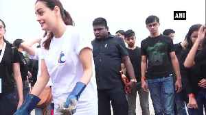 Dia Mirza celebrates Independence Day with beach clean up drive [Video]
