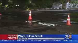 Water Main Break Floods Streets In Westwood [Video]
