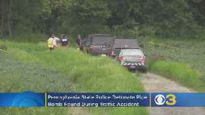 Pennsylvania State Police Detonate Suspected Pipe Bomb Found During Accident Investigation In South Whitehall Township [Video]