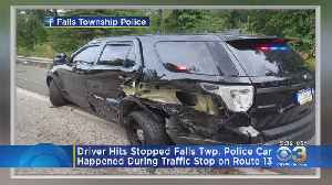 Close Call For Police Officer In Falls Township [Video]