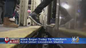Work Begins To Transform 42nd Street Crosstown Shuttle [Video]