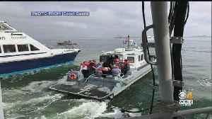 MBTA Ferry Runs Aground In Boston Harbor; 4 Injured [Video]