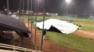 Intense Wind Storm Blows Field Tarpaulin Away [Video]