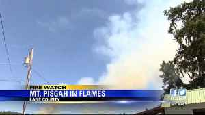 Pisgah Fire grows to 50 acres [Video]