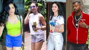 Janhvi Kapoor, Malaika Arora, Hardik and Krunal Pandya, Ananya Panday Spotted By Paparazzi [Video]