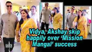 News video: Vidya, Akshay skip happily over 'Mission Mangal' success