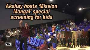 Akshay hosts 'Mission Mangal' special screening for kids [Video]
