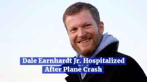 Dale Earnhardt Jr Survives A Plane Crash [Video]