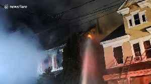 Firefighters tackle house blaze in Shamokin, Pa [Video]