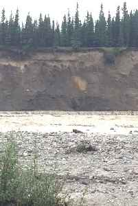 Landslide on Riverbank Following Heavy Flooding [Video]
