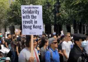 News video: London Protesters March in 'Solidarity With Hong Kong'