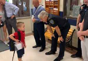 Son of Fallen Slidell Officer Receives Warm Welcome From Police on First Day of Kindergarten [Video]