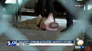 Security officer attacked, suspect found [Video]