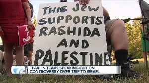 Congresswoman Rashida Tlaib speaks to supporters following decision not to travel to Israel [Video]