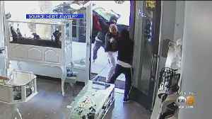 Caught On Tape: Jewelry Store Owner Fights Off Sledgehammer-Wielding Robbery Suspects [Video]
