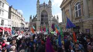 Extinction Rebellion climate protest in historic UK city of Bath against toxic air [Video]