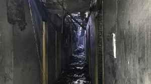 Ukraine hotel fire: Eight people killed in blaze at Tokyo Star in Odessa [Video]
