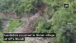 Landslide occurs in HPs Mandi [Video]