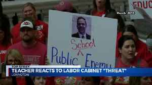 teacher reacts to labor cabinet threat [Video]