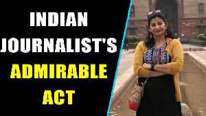Indian journalist Poonam Joshi snatches torn tricolour from Pak protesters, Video goes viral [Video]