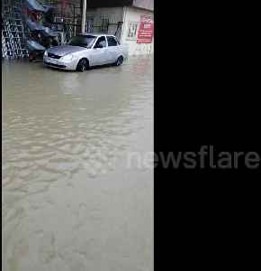 Heavy rain in the Russian city of Sochi causes flooding [Video]