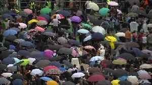 Rain fails to deter Hong Kong protesters [Video]