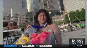 Teen Swimmer Completes Journey Around Manhattan [Video]