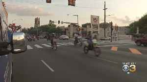 WATCH: Police Make No Stops After Dozens Of People On Dirt Bikes, ATVs Ride Down North Broad Street [Video]