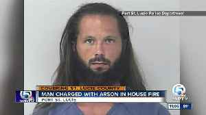 Man charged with arson in house fire [Video]