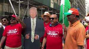 Indian Americans show support for Trump during 'India Day Parade' in Manhattan [Video]