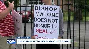 Protesters call on Bishop Malone to resign [Video]