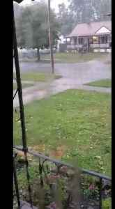 Hail falls in Akron's Goodyear Heights neighborhood [Video]