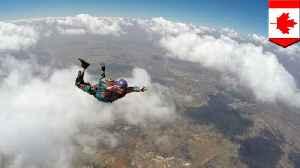 Woman survives 5,000 foot fall after parachute fail [Video]