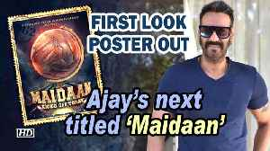 Ajay Devgn's next based on football titled 'Maidaan' | First Look Poster OUT [Video]