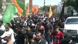 Funeral procession held for three Palestinians killed by Israeli shellfire in Gaza [Video]