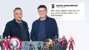 The Russo Brothers Answer Avengers: Endgame Questions From Twitter [Video]