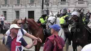 Tommy Robinson supporters goad police at London protest [Video]