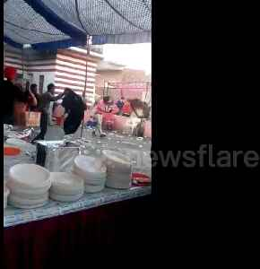 Unlimited drinks and limited food causes riotous fight at Indian wedding [Video]
