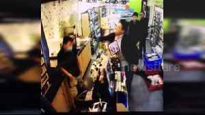 Man attacks shop assistant with knife as he is unable to buy cooked corn [Video]