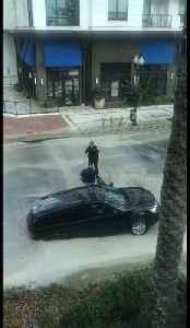 Moment when driver escapes SUV swallowed in water main break in Orlando, Florida [Video]