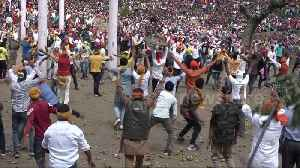 More than 120 injured in Indian stone-pelting festival [Video]