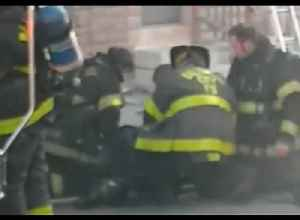 Firefighter Pulled From Burning Building in Baltimore [Video]