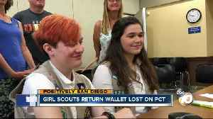 2 San Diego Girl Scouts find wallet during hike, send it back to owner [Video]