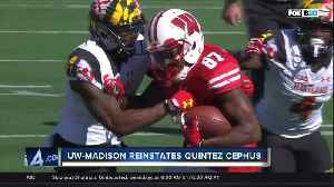 UW-Madison reinstates Quintez Cephus, football player acquitted of sexual assault charges [Video]