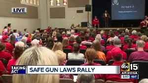 Safe gun laws rally held in Phoenix [Video]