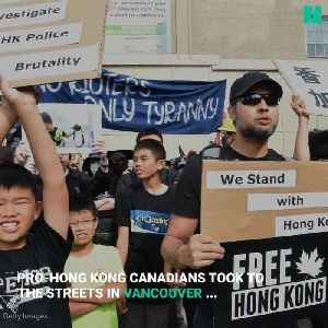 Pro-Hong Kong Protesters Face Mainland China Supporters At Vancouver Protest [Video]