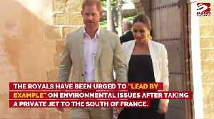 Duke and Duchess of Sussex told to 'lead by example' on climate change [Video]